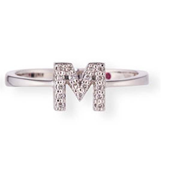 """M"" Inital Ring by Roberto Coin"