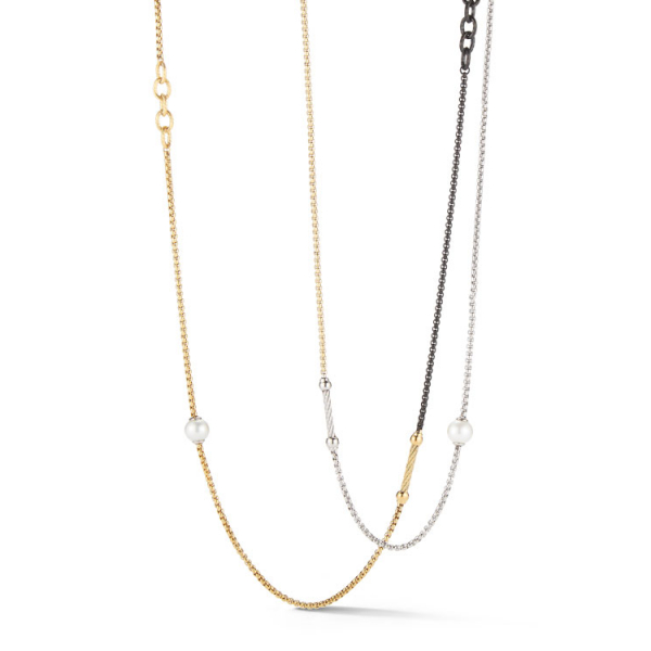 Chain Reaction Long Necklace by ALOR