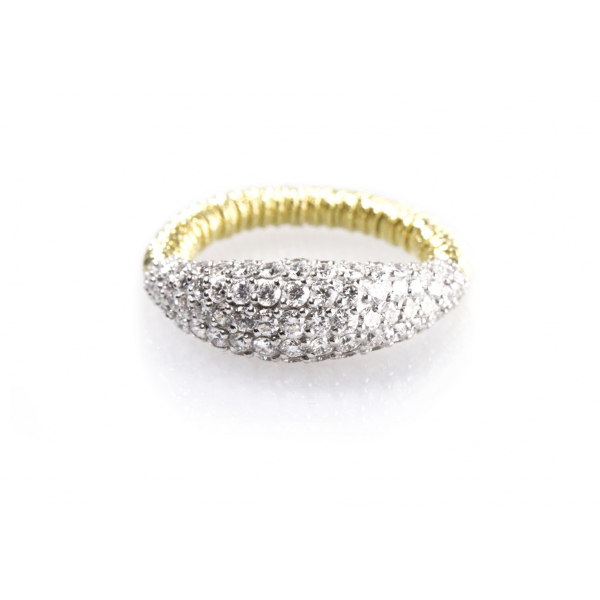 Diamond Dome Stretch Ring - Yellow by Roberto Demeglio