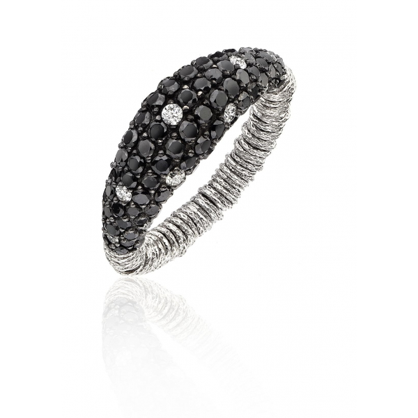 Diamond Dome Stretch Ring - White by Roberto Demeglio
