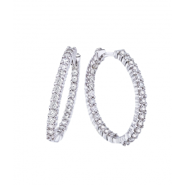 1.53 cttw Diamond Hoops by Roberto Coin