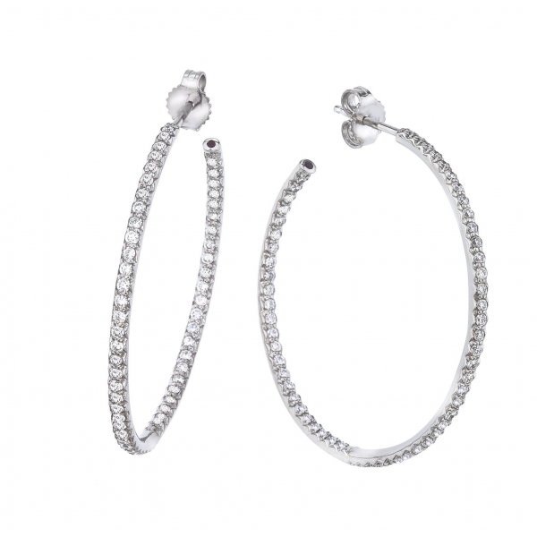 0.98 cttw Diamond Hoop by Roberto Coin