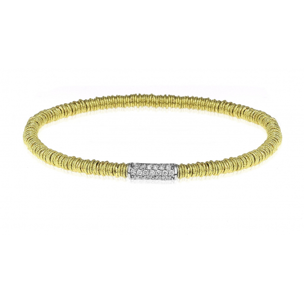 Slim Stretch Bracelet with Diamonds by Roberto Demeglio