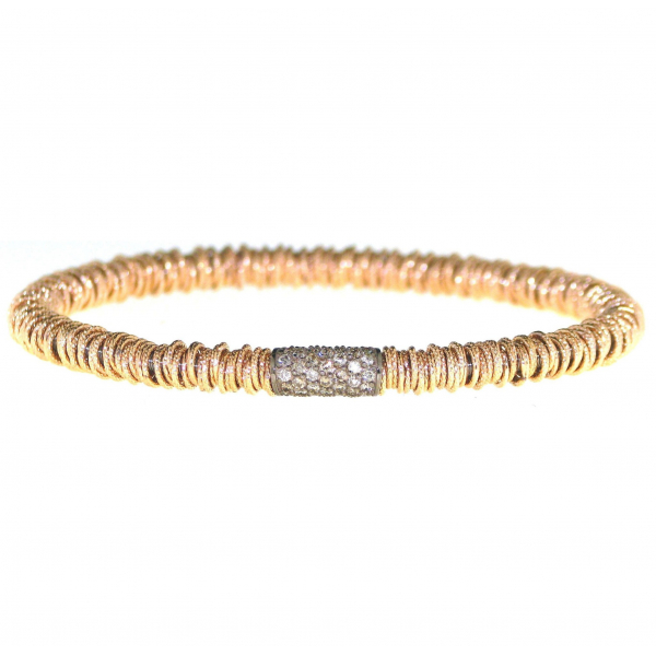 Stretch Bracelet with Cognac Diamonds by Roberto Demeglio