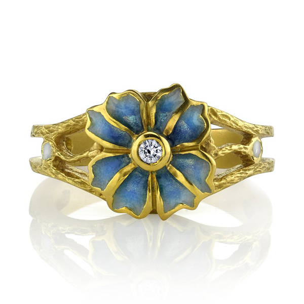 Floral Enamel Ring by Masriera