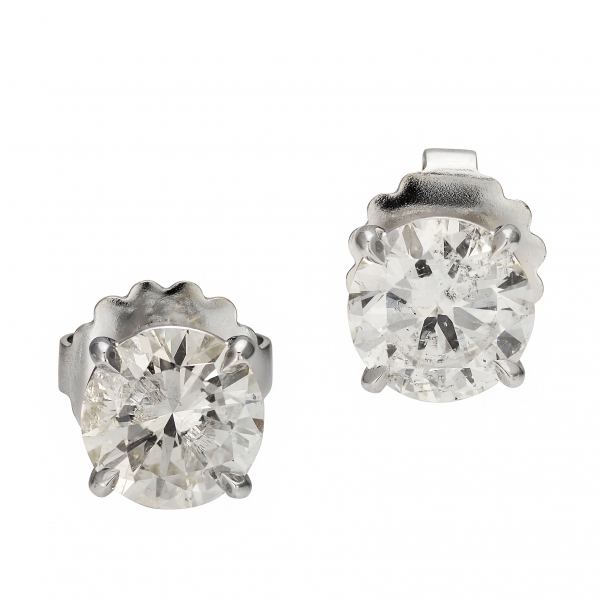 3.06 Carat Diamond Stud Earrings by Jae