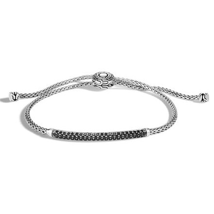 Classic Chain Pull Through Bracelet, Black by John Hardy