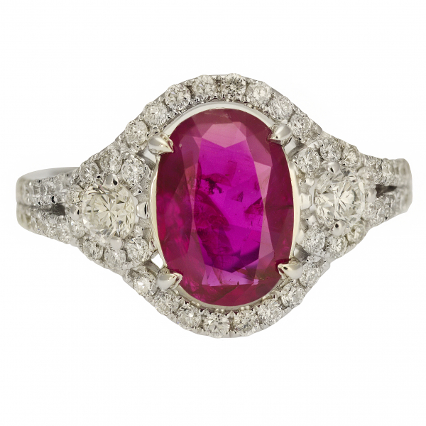 Unheated Burmese Ruby Ring by Jae