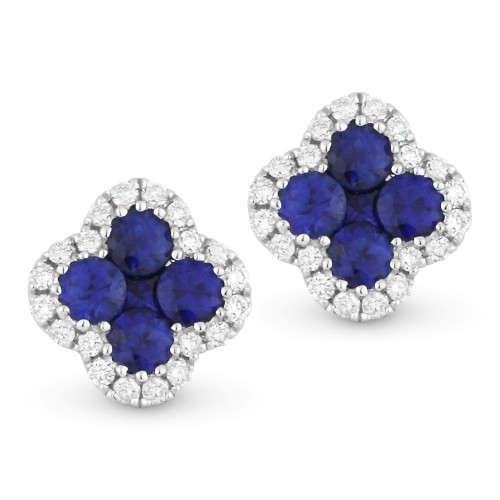 Sapphire & Diamond Stud Earrings by Madison L.