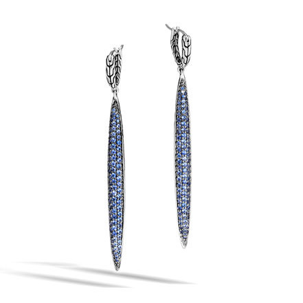 Classic Chain Drop Earring with Blue Sapphire by John Hardy
