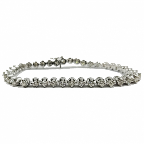 Diamond Line Bracelet by Estate