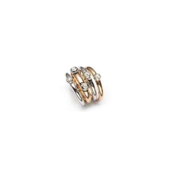 Fedine Two-Tone Diamond Ring by Mattioli