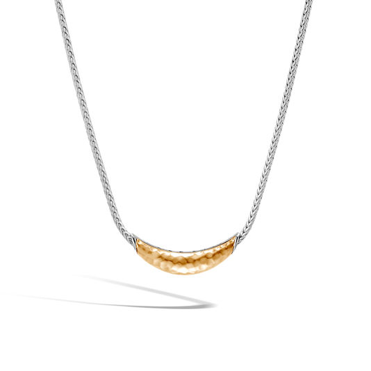 Classic Chain Hammered Station Necklace by John Hardy