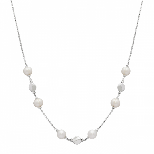 Dots & Dashes Pearl Necklace by Honora