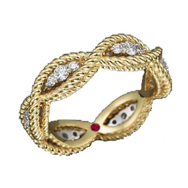 Barocco Braid Ring - Yellow Gold by Roberto Coin