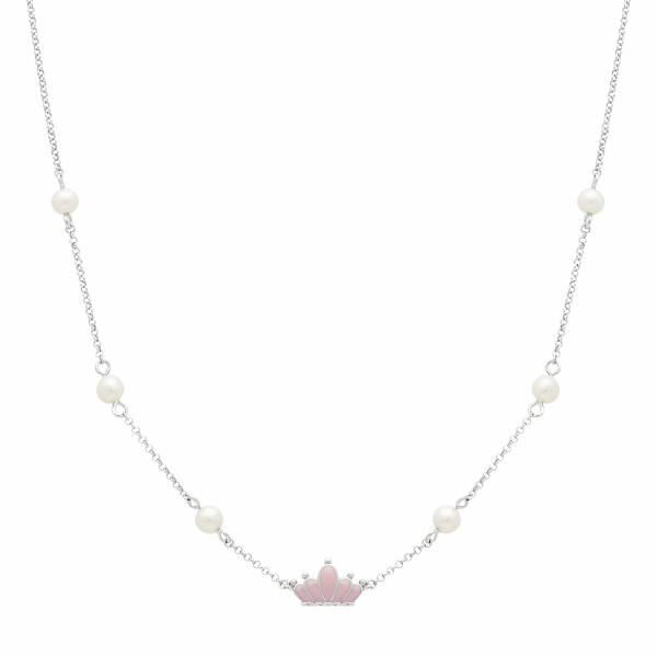 Pink Crown Necklace by Honora