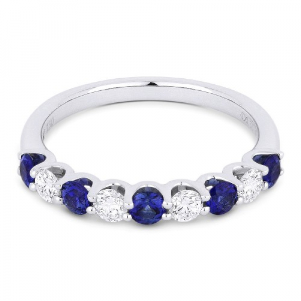 Sapphire & Diamond Band by Madison L.