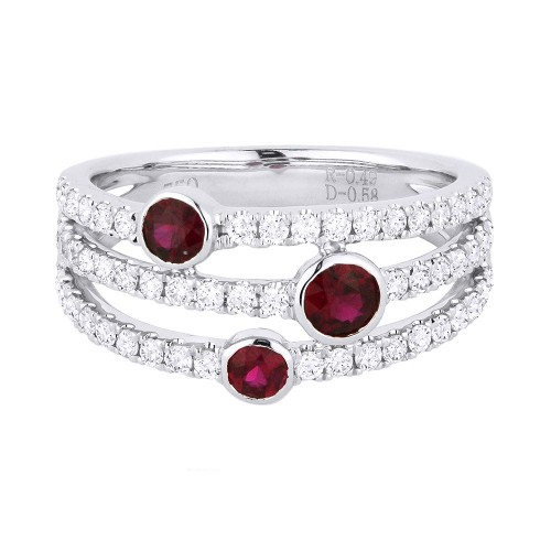 Ruby Triple Band Ring by Madison L.
