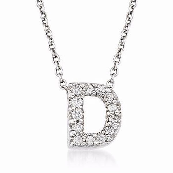 "Tiny Initial ""D"" Necklace by Roberto Coin"