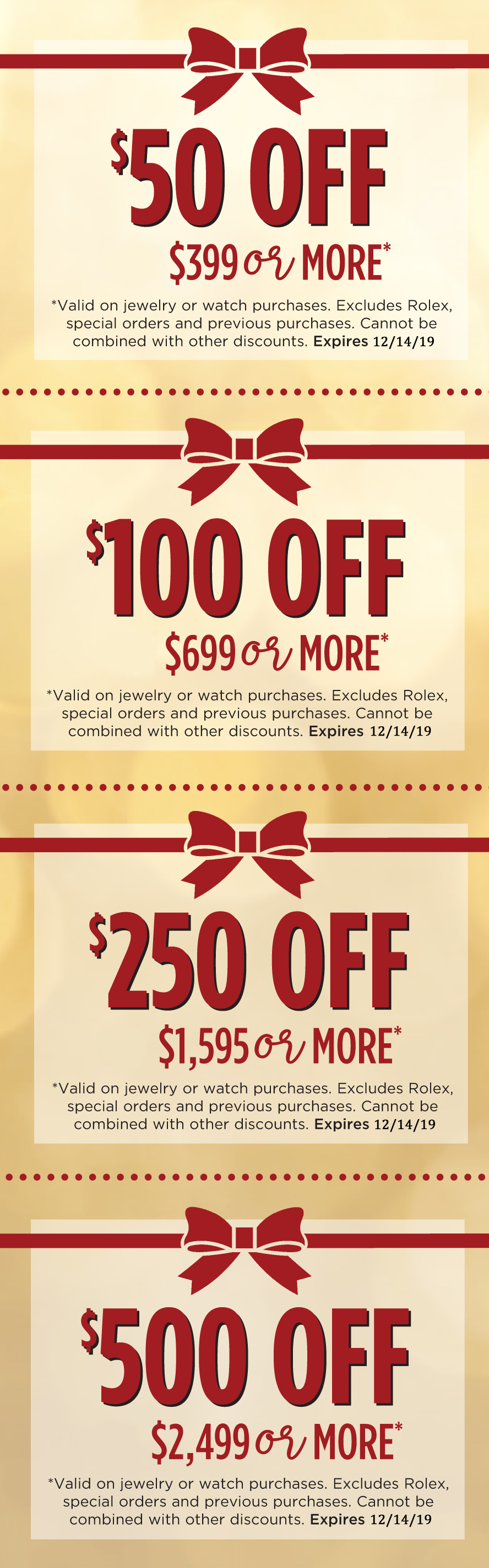 2019 Holiday Coupons